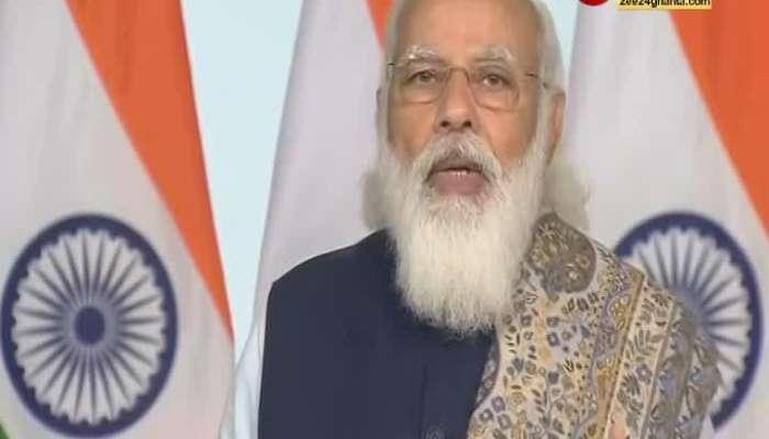 Prime Minister Narendra Modi initiated Corona vaccination across the country
