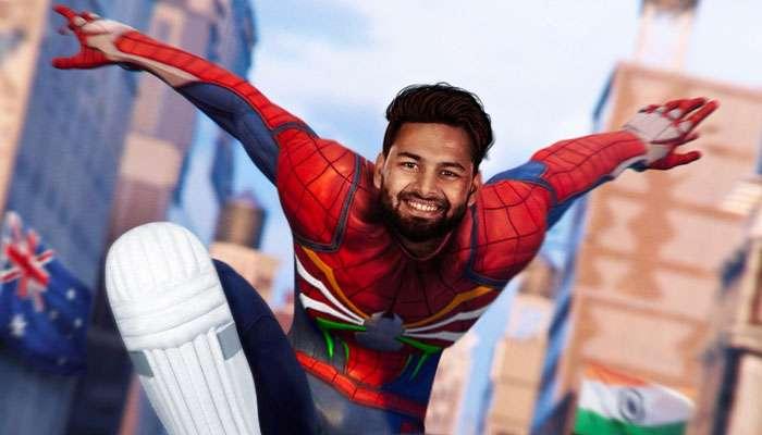 """ব্রিসবেনের নায়ক ঋষভ পন্থ ভারতীয় ক্রিকেটের নতুন """"Spiderman"""""""