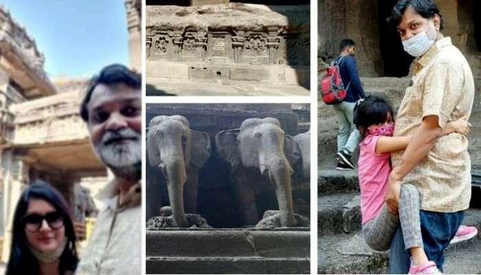 Sikkim-এর পর এবার স্ত্রী ও মেয়েকে নিয়ে Ajanta-Ellora-য় Srijit Mukherji
