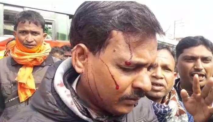 PM Modi-র সভায় যাওয়ার পথে BJP কর্মীদের উপর হামলা, ইটবৃষ্টি, বাস ভাঙচুরের অভিযোগ