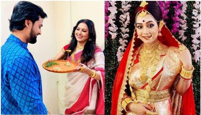 শ্যুটিং সেটেই আইবুড়ো ভাত খেলেন Rudrajit-Promita