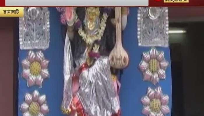 bjp distributes saraswati idol to people tmc alleges politics
