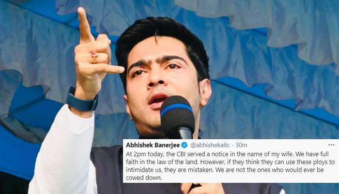 'ভয় দেখাতে চাইলে ভুল করছেন' CBI নোটিস পেয়েই টুইট Abhishekএর