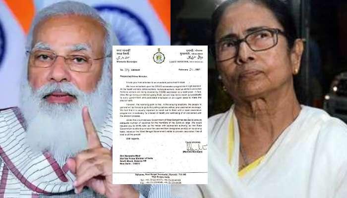 পাঠানো Vaccine-র অর্ধেকও ব্যবহার করতে পারেনি বাংলা, Mamata-র পত্রে জবাব BJP-র