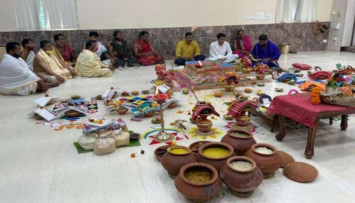 Mamata-র বাড়িতে যজ্ঞে অভিষেক, পুজো করলেন জগন্নাথ দ্বৈতাপতি