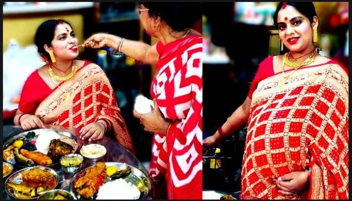 ৯ মাসের অন্তঃসত্ত্বা, সাধ খেলেন টেলি অভিনেত্রী Madhubani