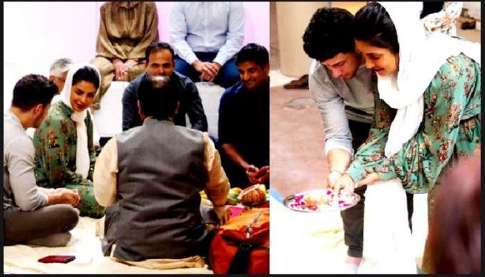 নতুন শুরু, পুজো সারলেন Nick-Priyanka, নাম রাখলেন 'সোনা'