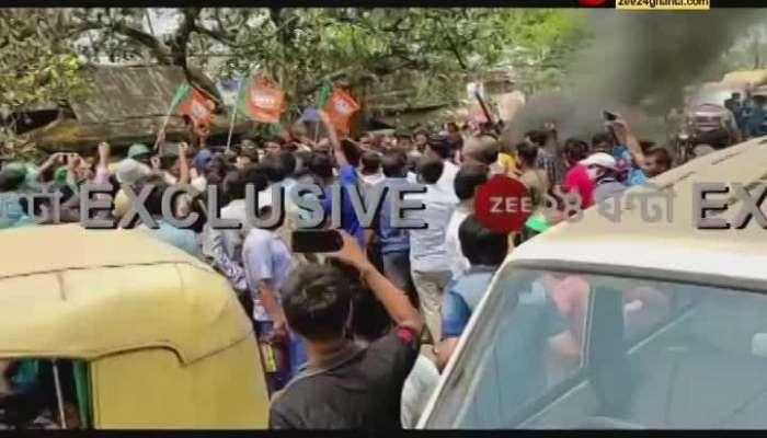 BJP Leader Dipak attacked on Diamond Harbour