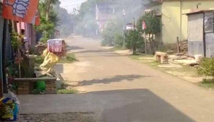 গয়েশপুরে গন্ডগোল, বোমায় আহত বিজেপি কর্মী