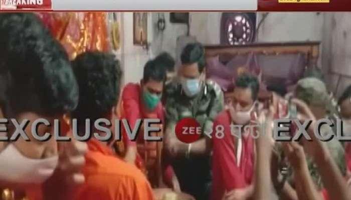CRPF IG give puja to Tarapith