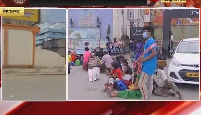 Public vehicles shut down people in trouble at sealdah howrah