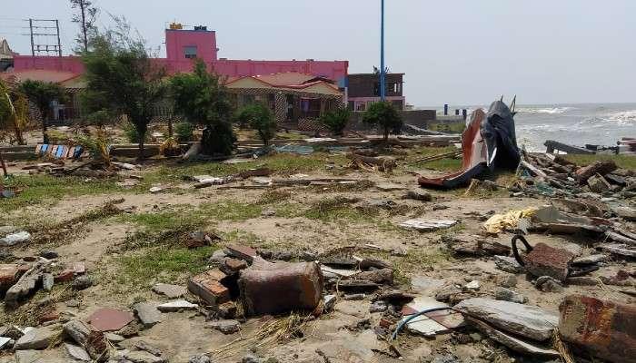 Yaas Update: মন্দারমনিতে ধূলিসাত্ হোটেল-রিসর্ট, মাথায় হাত পর্যটন ব্যবসায়ীদের