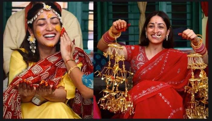 গায়ে হলুদ থেকে মেহেন্দি, দেখুন Yami Gautam-র প্রাক বিবাহ অনুষ্ঠানের ছবি