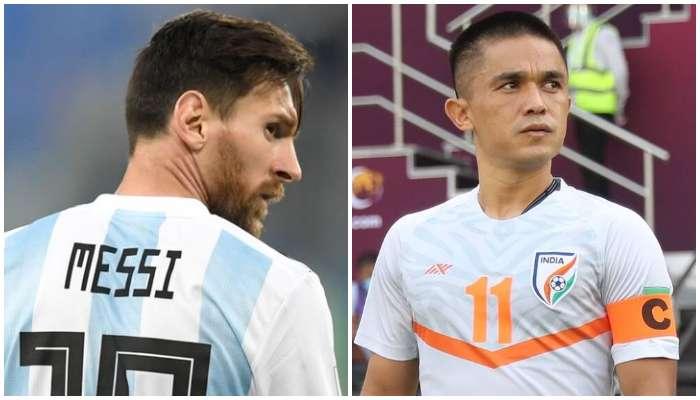 'আমি গোলের সংখ্যা গুনি না'! Lionel Messi কে টপকে বললেন Sunil Chhetri