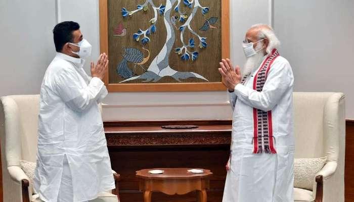 বাংলার হিংসা নিয়ে PM Modi-কে নালিশ Suvendu-র, আশীর্বাদ ও উৎসাহদান মোদীর