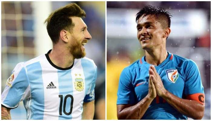 মন খারাপ হলে Messi র ভিডিয়ো দেখি, কখনও সাক্ষাৎ হলে জানাব আমি ওঁর বিরাট ভক্ত: Sunil Chhetri