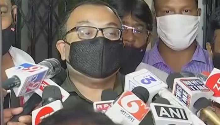 Rajib Banerjee appeared at the house of TMC leader Kunal Ghosh in the afternoon