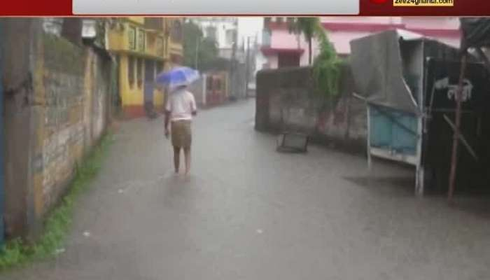 Various areas of Kolkata were inundated due to heavy rains since Wednesday night. Many roads have been flooded.