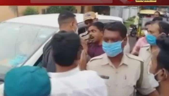 Demonstration around Agnimitra Paul in Asansol