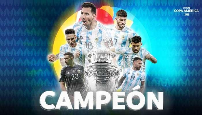 Copa America 2021: মারাকানার রং নীল-সাদা, কোপা আমেরিকা চ্যাম্পিয়ন আর্জেন্টিনা
