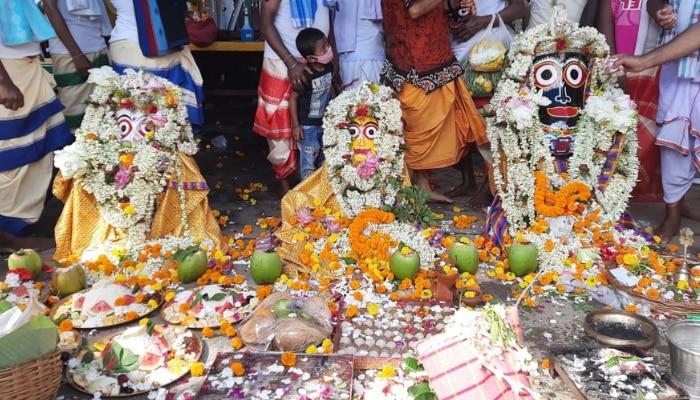 Rathyatra: রথের রশিতে টান নয়, তবে চন্দননগরে হল পূজার্চনা