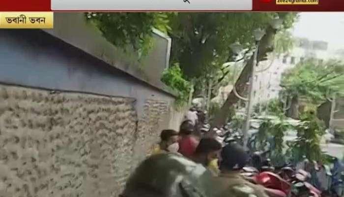 Police lathicharge at Bhawani Bhawan