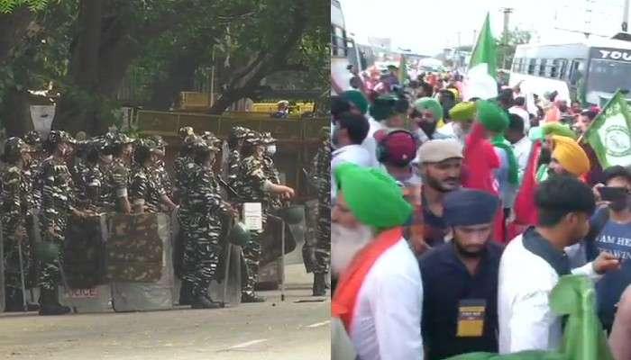 কৃষি আইন বাতিলের দাবিতে Jantar Mantar-এ কৃষক বিক্ষোভ, নিরাপত্তার চাদরে ঢাকল Delhi