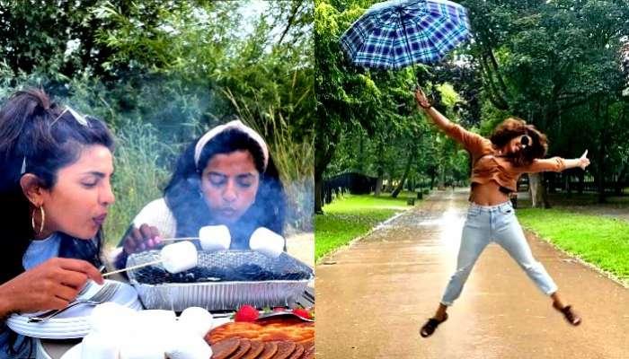 বৃষ্টি ভেজা London কিংবা রোদ ঝলমলে দিনে চড়ুইভাতিতে মজে Priyanka Chopra