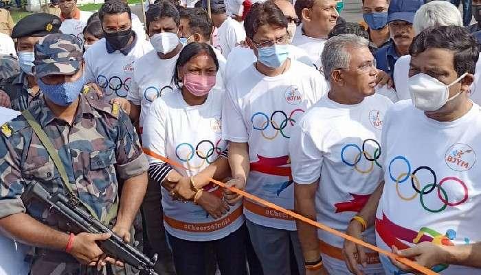 BJP Marathon:পুলিসের অনুমতি ছাড়াই  অলিম্পিক্সের সমর্থনে ম্যারাথন BJP-র