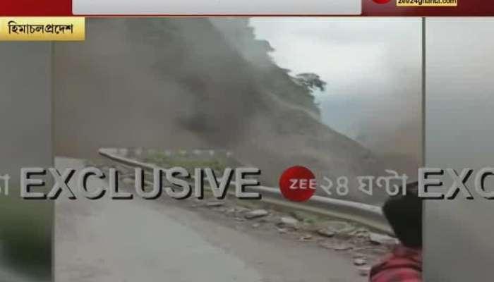 Landslide in devastated Himachal due to torrential rains, see video of the moment of the landslide