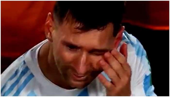 Lionel Messi: অঝোরে কাঁদছেন 'ভক্তের ভগবান' মেসি! যে ভিডিয়ো চোখ ভেজাল ফ্যানেদের
