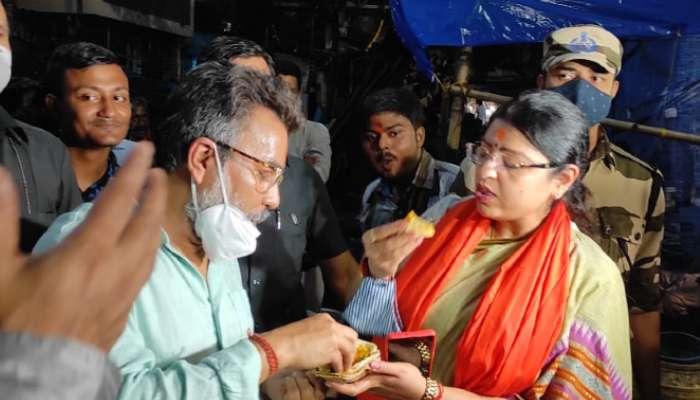 By-Poll: কালীঘাটে পুজো দিয়ে ডালপুরি-আলুরদম ভাগ করলেন BJP-র বর্তমান-প্রাক্তন