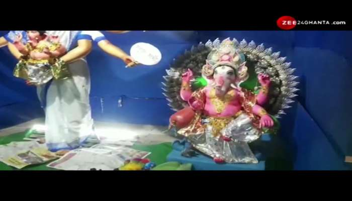Ganesha in the lap, Durga idol in the style of Chief Minister Mamata, controversy surrounding Ganesh Chaturthi celebrations in Malda
