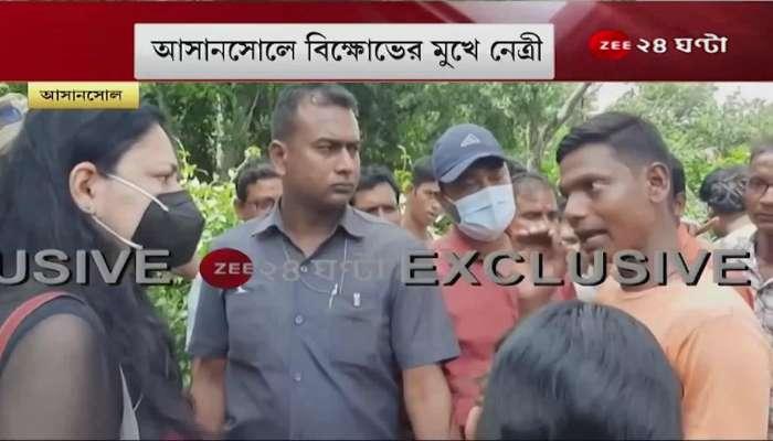 Agnimitra Paul visits landslide affected area in Asansol faces chaos