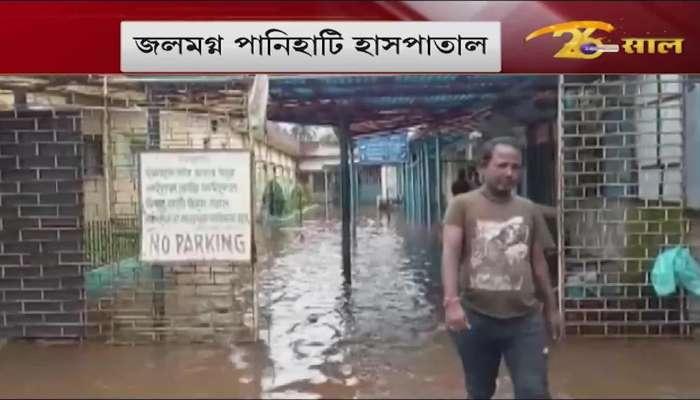 Submerged Panihati Hospital, knee-deep water inside the ward, problem doctors, nurses