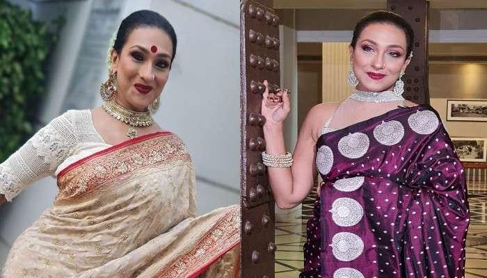 Pujor Fashion: পুজোয় প্রথম পছন্দ শাড়ি, জি ২৪ ঘণ্টার ফটোশ্যুটে হাস্যে লাস্যে ক্যামেরাবন্দি Rituparna