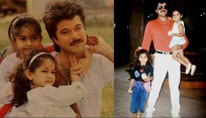 ছোট্ট সোনম ও রিয়া কাপুরের সঙ্গে Bollywood-র Coolest বাবা অনিল কাপুর, ভাইরাল ছবি