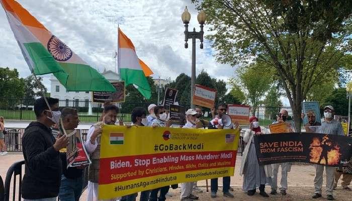 Modi In US: কৃষি আইনের বিরোধিতা, মোদীর মার্কিন সফরকালে ভারতীয়দের বিক্ষোভ