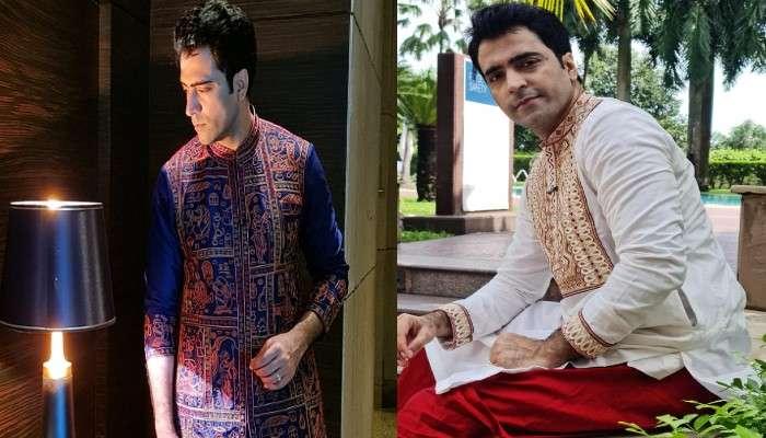 Pujor Fashion: জি ২৪ ঘণ্টার ফটোশ্যুটে পরনে ধুতি পাঞ্জাবি, সাবেকি সাজে লেন্সবন্দি Abir