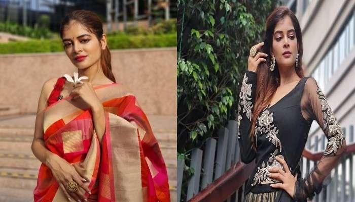 Pujor Fashion: সপ্তমীতে লেহেঙ্গা, অষ্টমীতে শাড়ি, জি ২৪ ঘণ্টার ফটোশুটে নজরকাড়া Madhumita