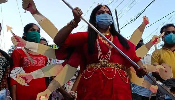 Jalpaiguri: দেবীপক্ষের সূচনা লগ্নে 'জ্যান্ত দুর্গা'! হইচইকাণ্ড জলপাইগুড়িতে