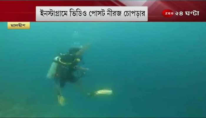 'Training begins', now underwater javelin practice - watch that viral video