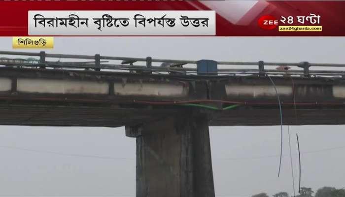 North Bengal: Balasan Bridge, Siliguri to Kolkata road cut off